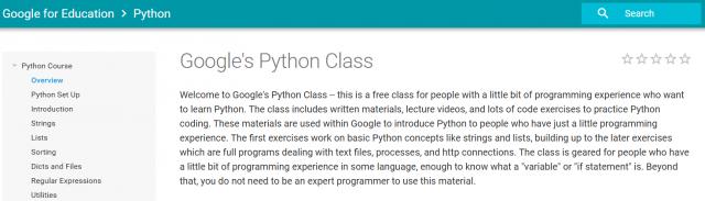 Google Python Class