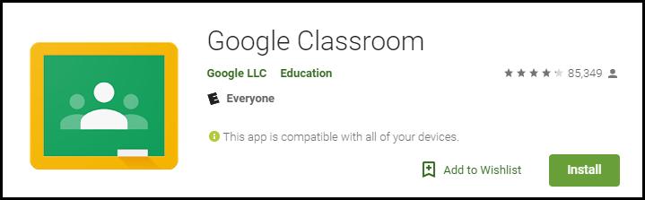 Google Classroom App Store Banner